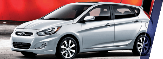Silver Hyundai Accent in Vancouver