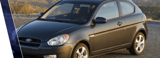 Black Hyundai Accent in Vancouver